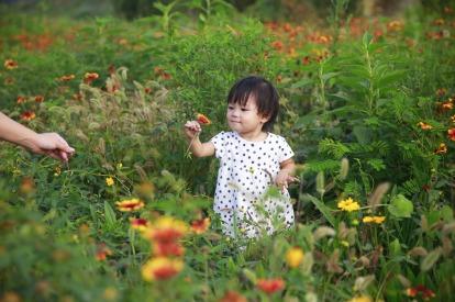 happy asian child