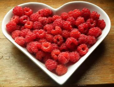 fresh raspberries for dessert