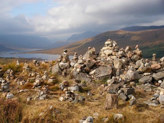 Loch Loyne, Scotland, cairns